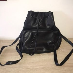 Kenneth Cole Reaction Black Leather Backpack!